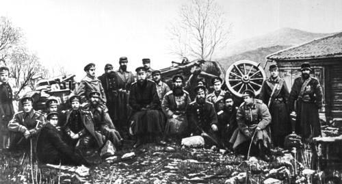 Русско-турецкая война 1877—78. Артиллерийская батарея на Шипке. Болгария. СССР. Капиталистический строй.