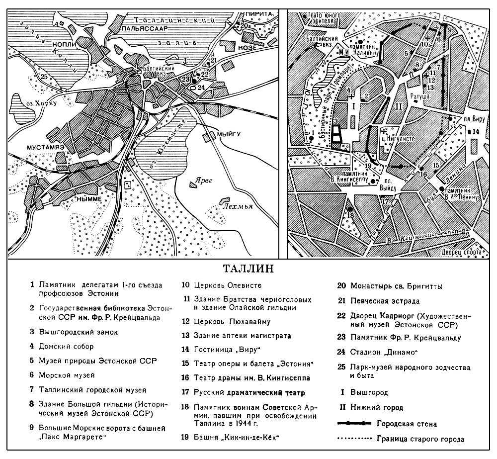 Таллин. План города. Таллин.