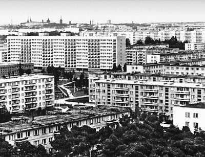 Таллин. Новый жилой район Мустамяэ. Застраивается с 1961. Архитекторы М. Порт, В. Типпель, Таллин Каллас, Л. Петтай и др. Таллин.