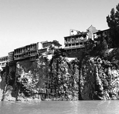 Тбилиси. Жилые дома на берегу реки Куры. 1-я пол. 19 в. Тбилиси.