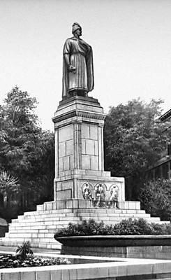 Тбилиси. Памятник Шота Руставели. Камень, мрамор. 1942. Скульптор К. Мерабишвили, архитектор Ш. Тулашвили. Тбилиси.