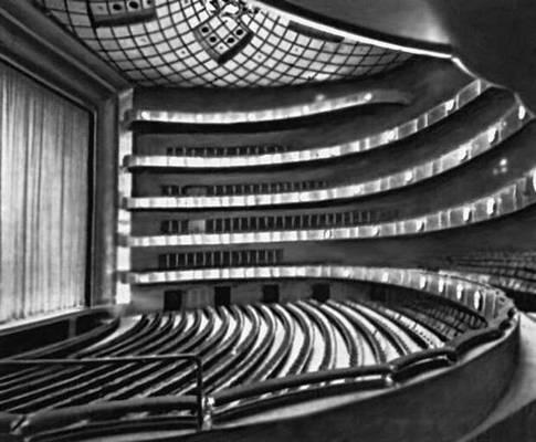 Театр штата Нью-Йорк в Нью-Йорке. 1964. Архитектор Ф. Джонсон. Зрительный зал. Театр.