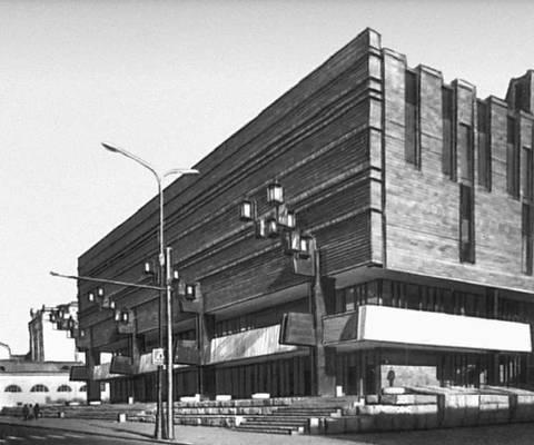 Новое здание Художественного театра. 1972. Главный архитектор проекта — В. С. Кубасов. Театр.