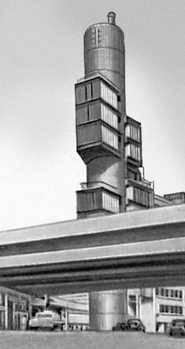 Токио. Здание фирмы «Мицубиси». 1965. Архитектор К. Тангэ. Токио.
