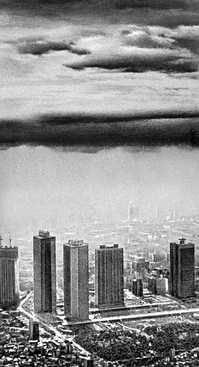Токио. Пелена смога над городом. Токио.