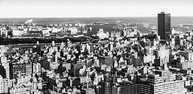 Токио. Панорама приморской части города. Токио.