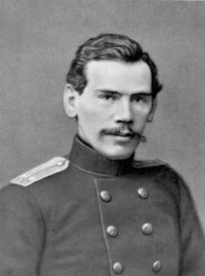 Л. Н. Толстой — поручик артиллерии. 1854. Толстой Лев Николаевич.