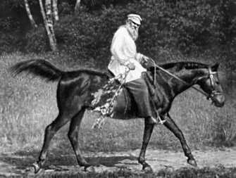 Л. Н. Толстой на прогулке. Толстой Лев Николаевич.