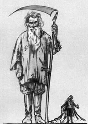 «Два царя в России». Карикатура из французского журнала. Толстой Лев Николаевич.