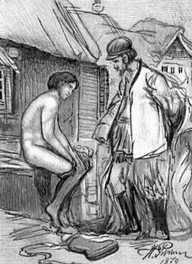«Чем люди живы». Илл. И. Е. Репина. 1879. Толстой Лев Николаевич.