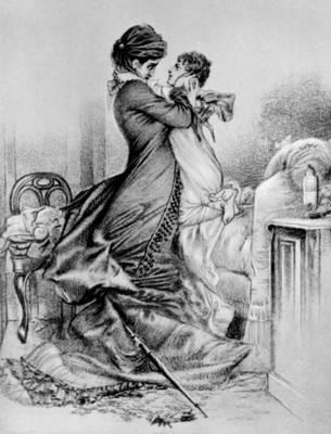 «Анна Каренина». Свидание Анны с сыном. Рис. М. А. Врубеля. Конец 1870-х — начало 1880-х гг. Толстой Лев Николаевич.