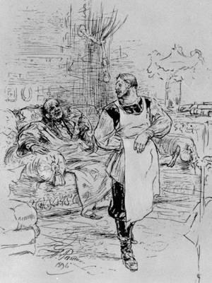 «Смерть Ивана Ильича». Илл. И. Е. Репина. 1896. Толстой Лев Николаевич.