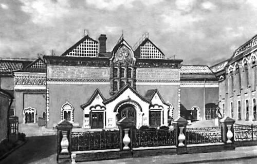 Третьяковская галерея (фасад сооружен в 1902 по проекту художника В. М. Васнецова). Москва. Третьяковская галерея.