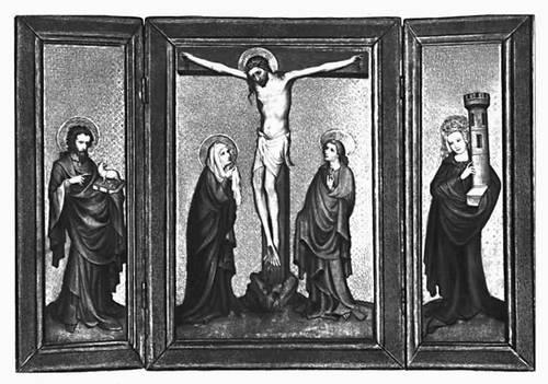 Триптих, т. н. Пэльский алтарь (Германия). Около 1440. Баварский национальный музей. Мюнхен. Триптих.