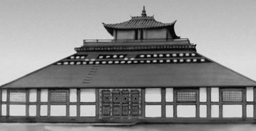 «Храм трёх субурганов» в монастыре Гандан в Улан-Баторе. 18 в. Улан-Батор.