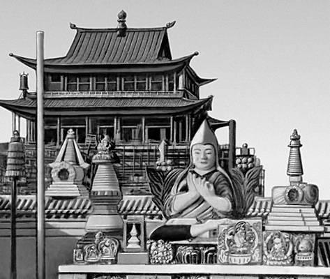 Храм Мэгджит-Джанрай-сэг в монастыре Гандан. 1911—13. Улан-Батор.