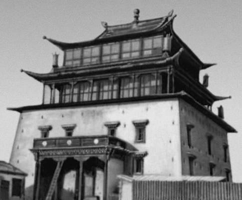 Храм Мэгджит-Джанрай-сэг в монастыре Гандан в Улан-Баторе. 1911—13. Улан-Батор.