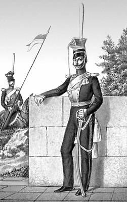 Офицер уланского полка (1817). Уланы.