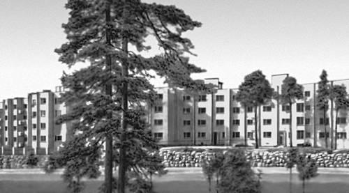 Хельсинки. «Дом-змея». 1951. Архитектор И. Линдегрен. Хельсинки.