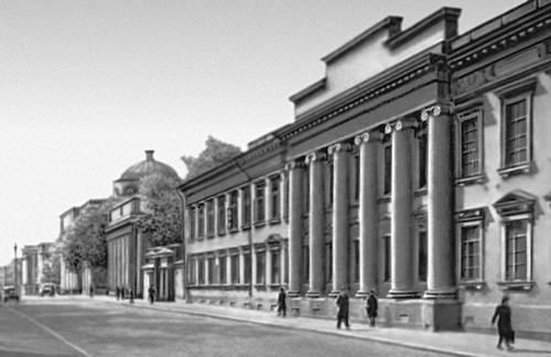 Хельсинки. Здание университета с обсерваторией и библиотекой. 1828—45. Архитектор К. Энгель. Хельсинки.