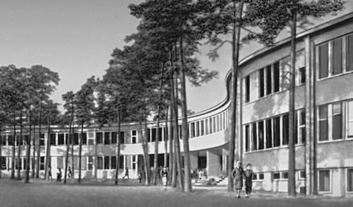 Хельсинки. Начальная школа в районе Мейлахти. 1953. Архитекторы В. Ревель, О. Сипари. Хельсинки.