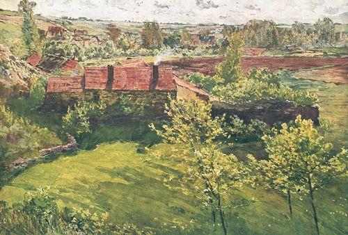 А. Славичек. «Июньский день». Темпера. 1898. Национальная галерея. Прага. Чехословакия.