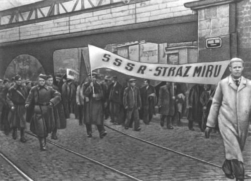 Демонстрация 1 Мая 1938 в Праге. Чехословакия.