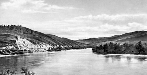 Читинская область. Река Шилка. Читинская область.