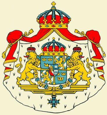Государственный герб Швеции. Швеция.