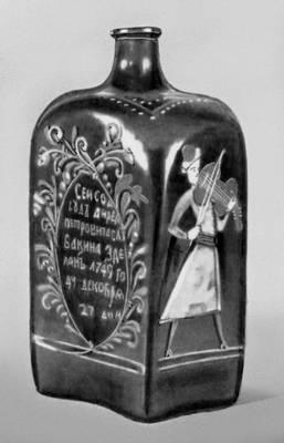 Штоф. Зелёное стекло (Россия, 1749). Исторический музей. Москва. Штоф (единица измерения объёма жидкостей).