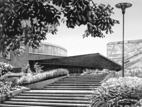 Штутгарт. Концертный зал Лидерхалле. 1956. Архитекторы А. Абель и Р. Гутброд. Штутгарт.