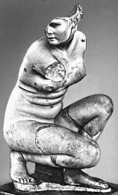 Эллинистическая культура. Дойдалс из Вифинии. «Коленопреклонённая Афродита». Мрамор. Ок. сер. 3 в. до н. э. Национальный римский музей, Рим. Эллинистическая культура.