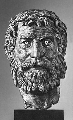 Эллинистическая культура. Голова философа. Бронза. Кон. 3 — нач. 2 вв. до н. э. Национальный археологический музей. Афины. Эллинистическая культура.