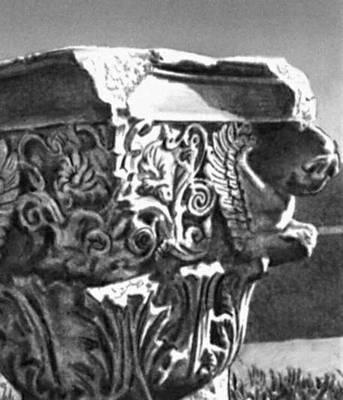 Эллинистическая культура. Капитель «Малых пропилей» святилища Деметры в Элевсине. Ок. 40 до н. э. Эллинистическая культура.