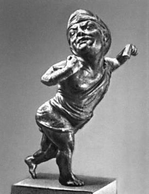 Эллинистическая культура. «Танцующий пигмей». Бронза. 2—1 вв до н. э. Национальный музей Бардо. Тунис. Эллинистическая культура.