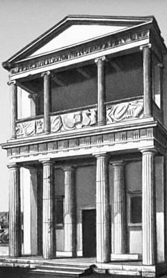Эллинистическая культура. Фасад святилища Афины Никефоры в Пергаме. 4—3 вв. до н. э. Эллинистическая культура.
