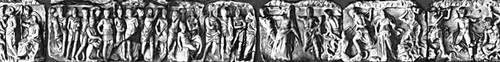 Эллинистическая культура. Символические сцены и «гигантомахия» фриза храма Гекаты в Лагине. Мрамор. Кон. 2 — нач. 1 вв. до н. э. Археологический музей. Стамбул. Эллинистическая культура.
