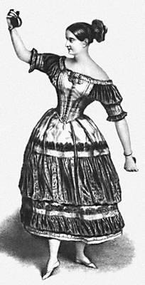 Ф. Эльслер исполняет танец «Качуча». Эльслер Фанни.