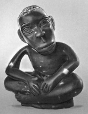 Т. Дубе. «Сидящий человек». Дерево. 1961. Частное собрание. Южная Родезия.