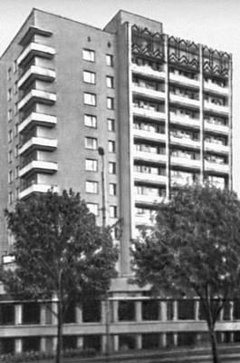 Ярославль. Жилой дом на Московском проспекте. 1976. Архитектор Б. А. Балеевский. Ярославль.